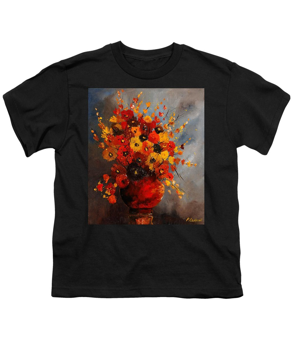Flowers Youth T-Shirt featuring the painting Bunch 0708 by Pol Ledent
