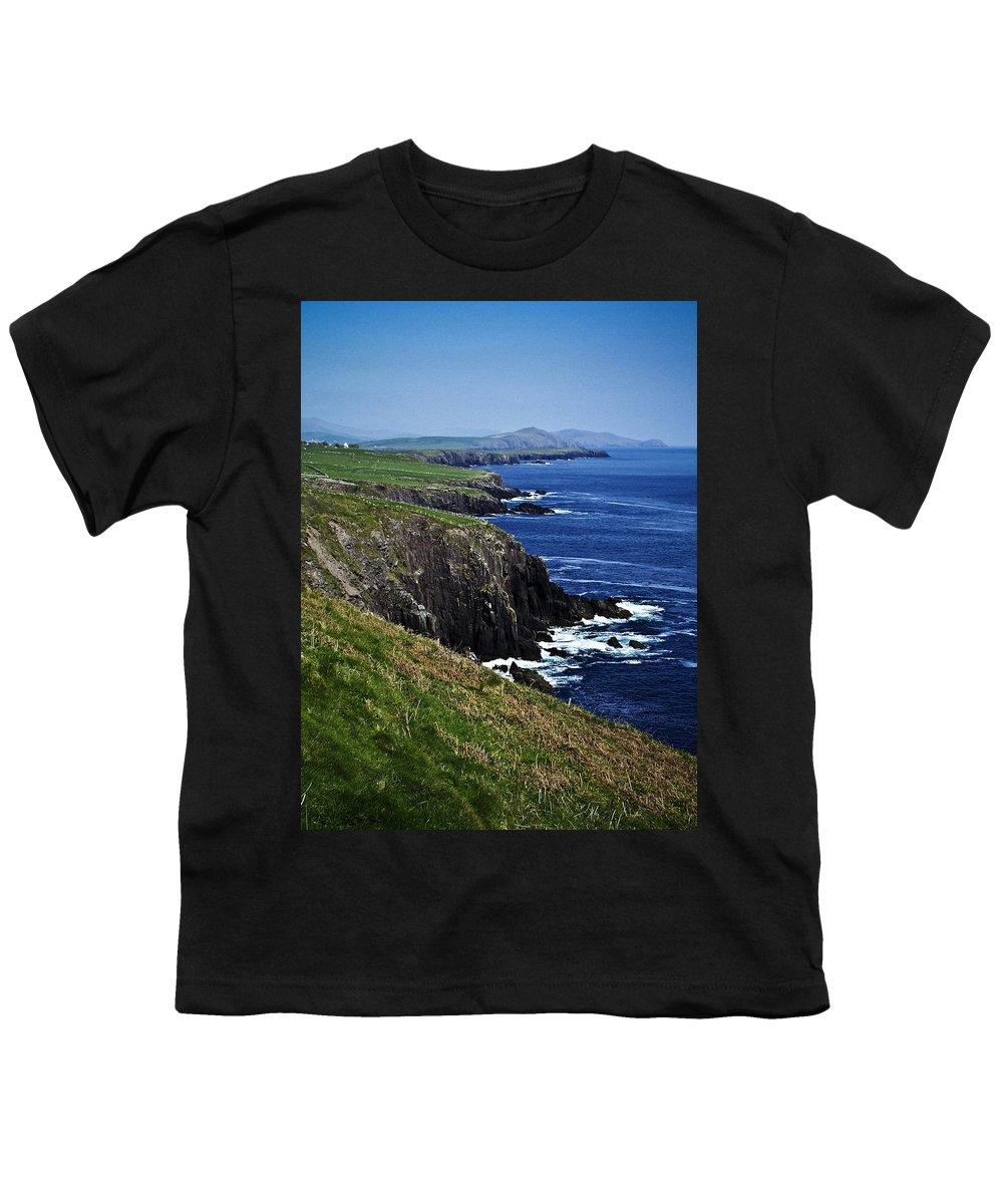 Irish Youth T-Shirt featuring the photograph Dingle Coastline Near Fahan Ireland by Teresa Mucha