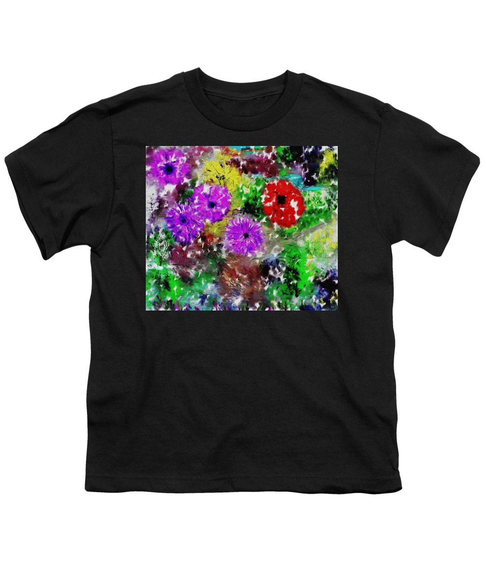 Landscape Youth T-Shirt featuring the digital art Dream Garden II by David Lane