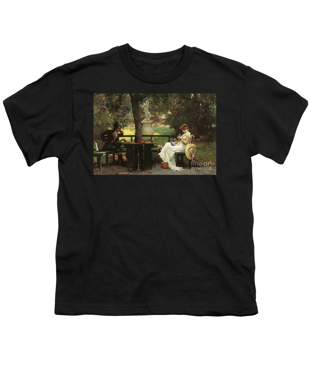 In Love By Marcus Stone Youth T-Shirt featuring the painting In Love by Marcus Stone