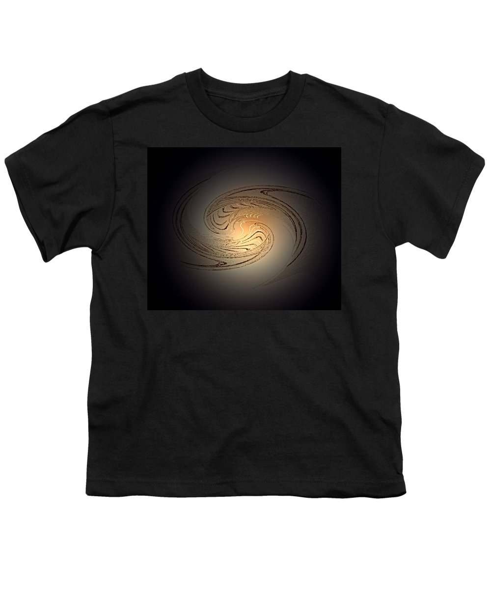 Swirl Youth T-Shirt featuring the digital art In The Beginning by Don Quackenbush