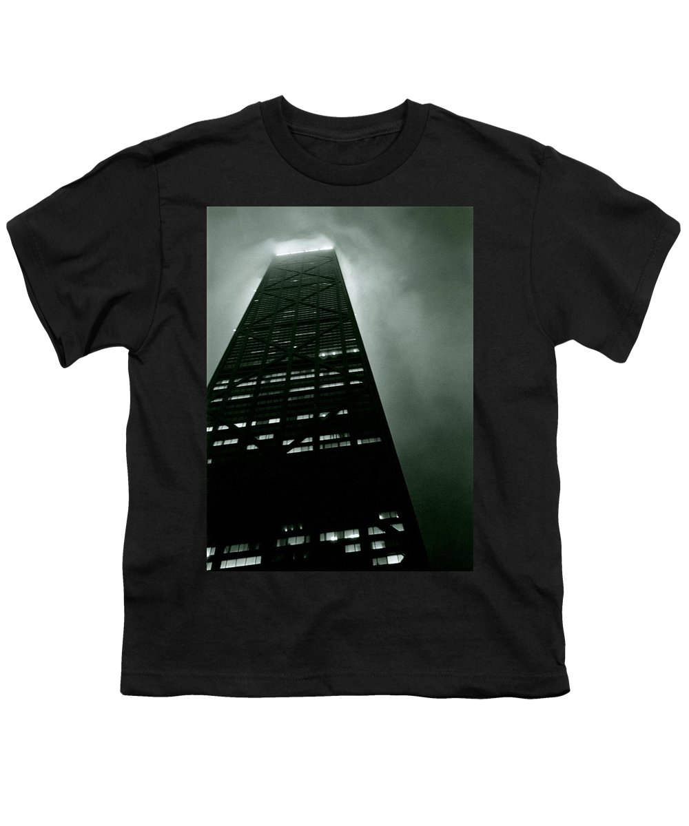 Geometric Youth T-Shirt featuring the photograph John Hancock Building - Chicago Illinois by Michelle Calkins