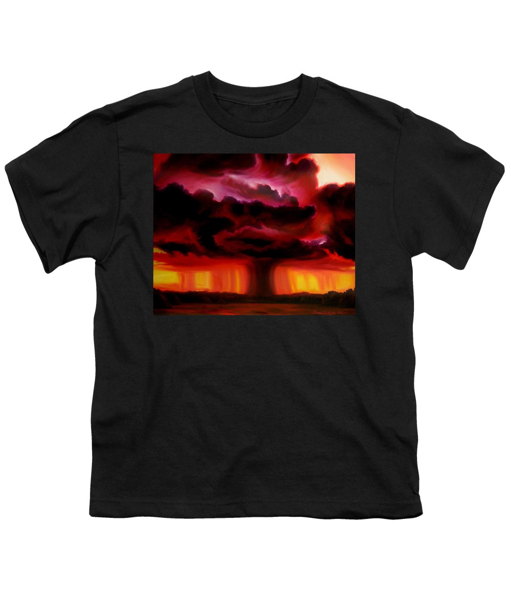 Skyscape Youth T-Shirt featuring the painting Microburst by James Christopher Hill