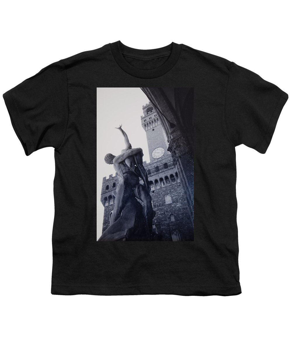 Florence Youth T-Shirt featuring the photograph Palazzo Vecchio by Kurt Hausmann