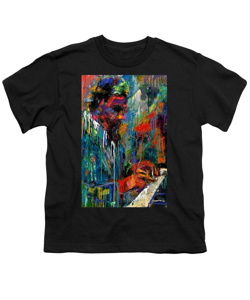 Painting Youth T-Shirt featuring the painting Round Midnight by Debra Hurd