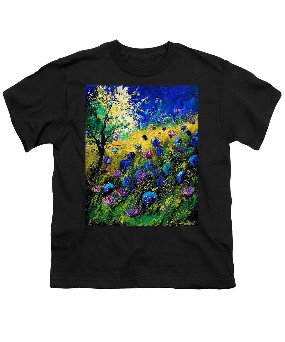 Poppies Youth T-Shirt featuring the painting Summer 450208 by Pol Ledent