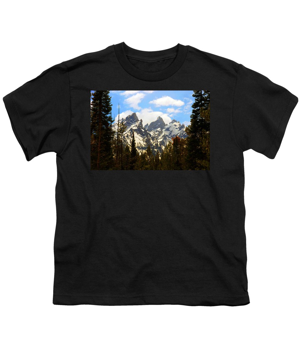 Photography Youth T-Shirt featuring the photograph The Grand Tetons by Susanne Van Hulst