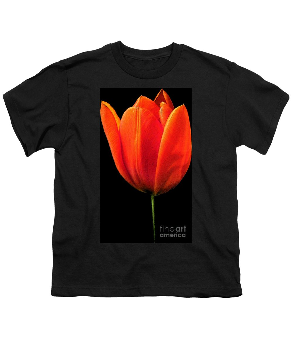 Tulips Youth T-Shirt featuring the photograph Tulip by Amanda Barcon
