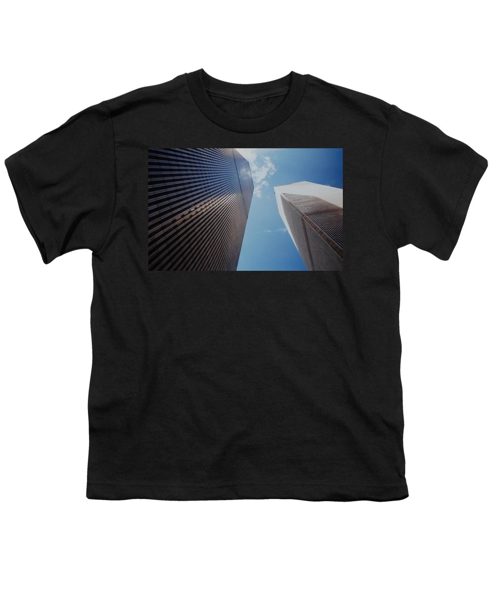 Wtc Youth T-Shirt featuring the photograph W T C 1 And 2 by Rob Hans