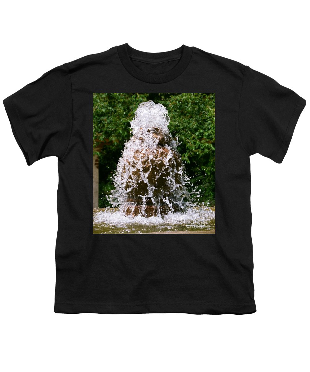 Water Youth T-Shirt featuring the photograph Water Fountain by Dean Triolo