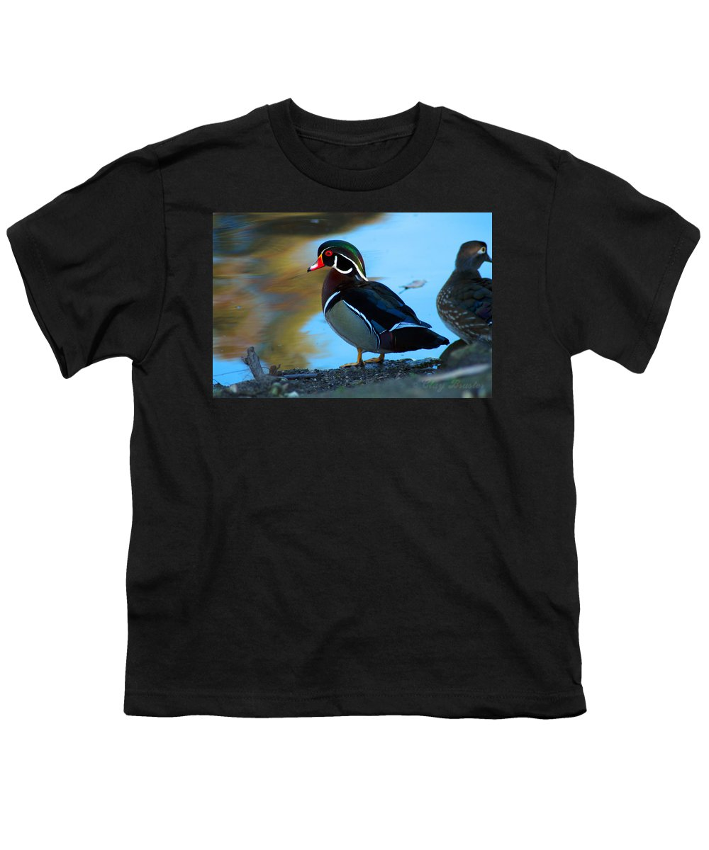 Clay Youth T-Shirt featuring the photograph Wood Duck by Clayton Bruster