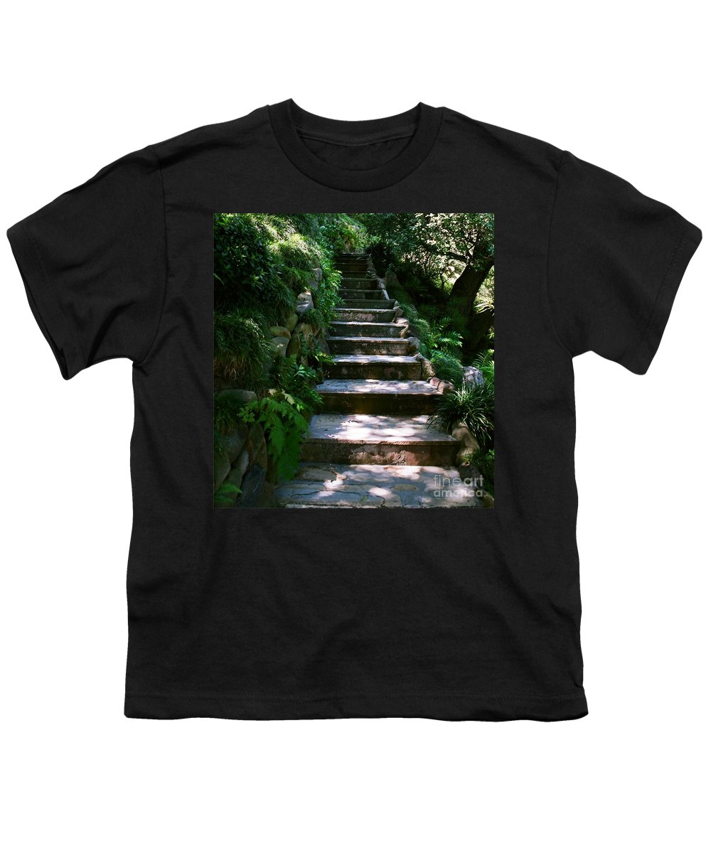 Nature Youth T-Shirt featuring the photograph Stone Steps by Dean Triolo