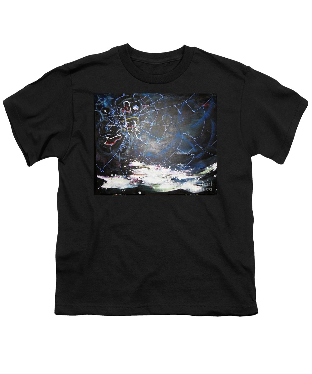 Abstract Paintings Youth T-Shirt featuring the painting Buckwheat Field by Seon-Jeong Kim
