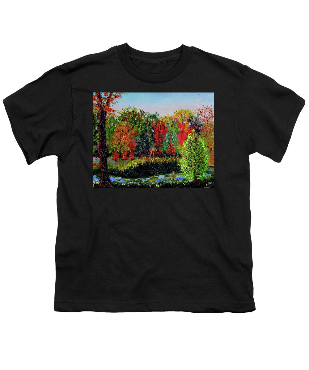 Plein Air Youth T-Shirt featuring the painting Sewp 10 10 by Stan Hamilton