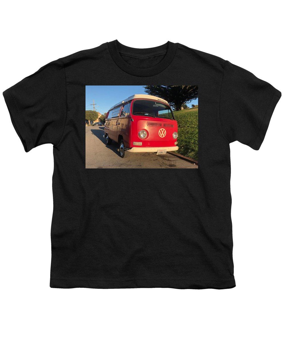 Volkswagen Bus T2 Westfalia Youth T-Shirt featuring the photograph Volkswagen Bus T2 Westfalia by Mariel Mcmeeking