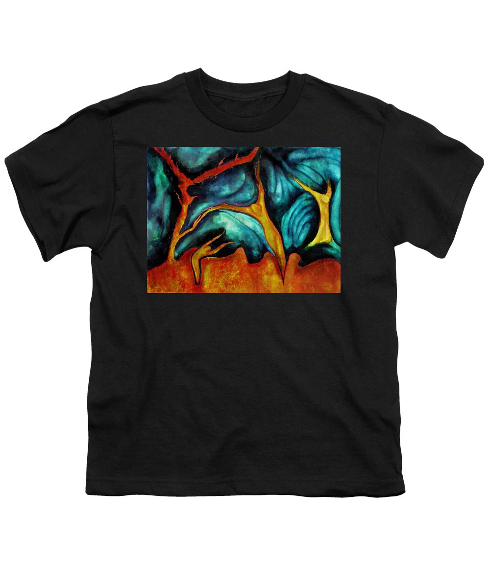 Soul Expression Words Thoughts Mind Connection Youth T-Shirt featuring the painting Untitled by Veronica Jackson