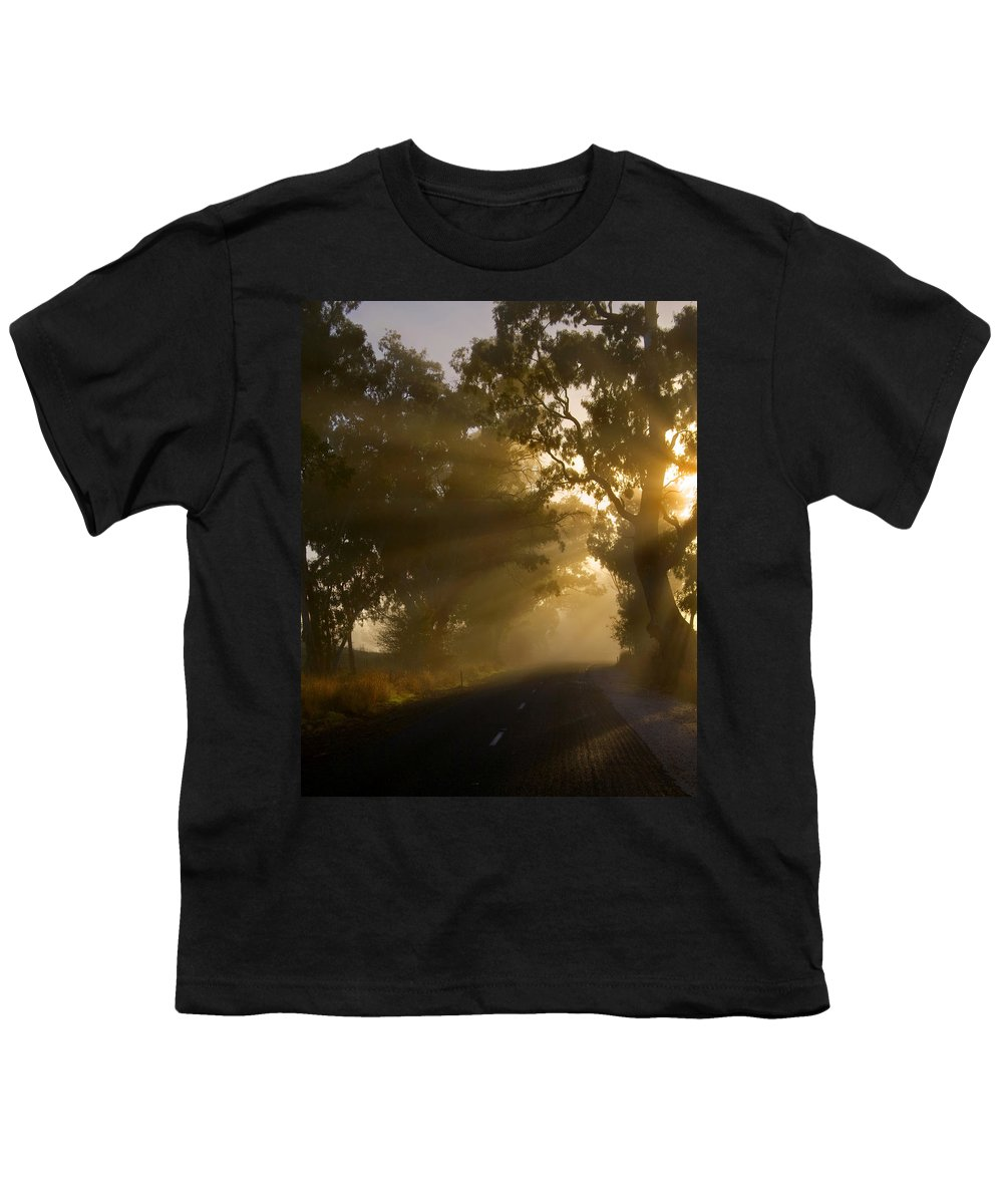 Highway Youth T-Shirt featuring the photograph A Road Less Traveled by Mike Dawson