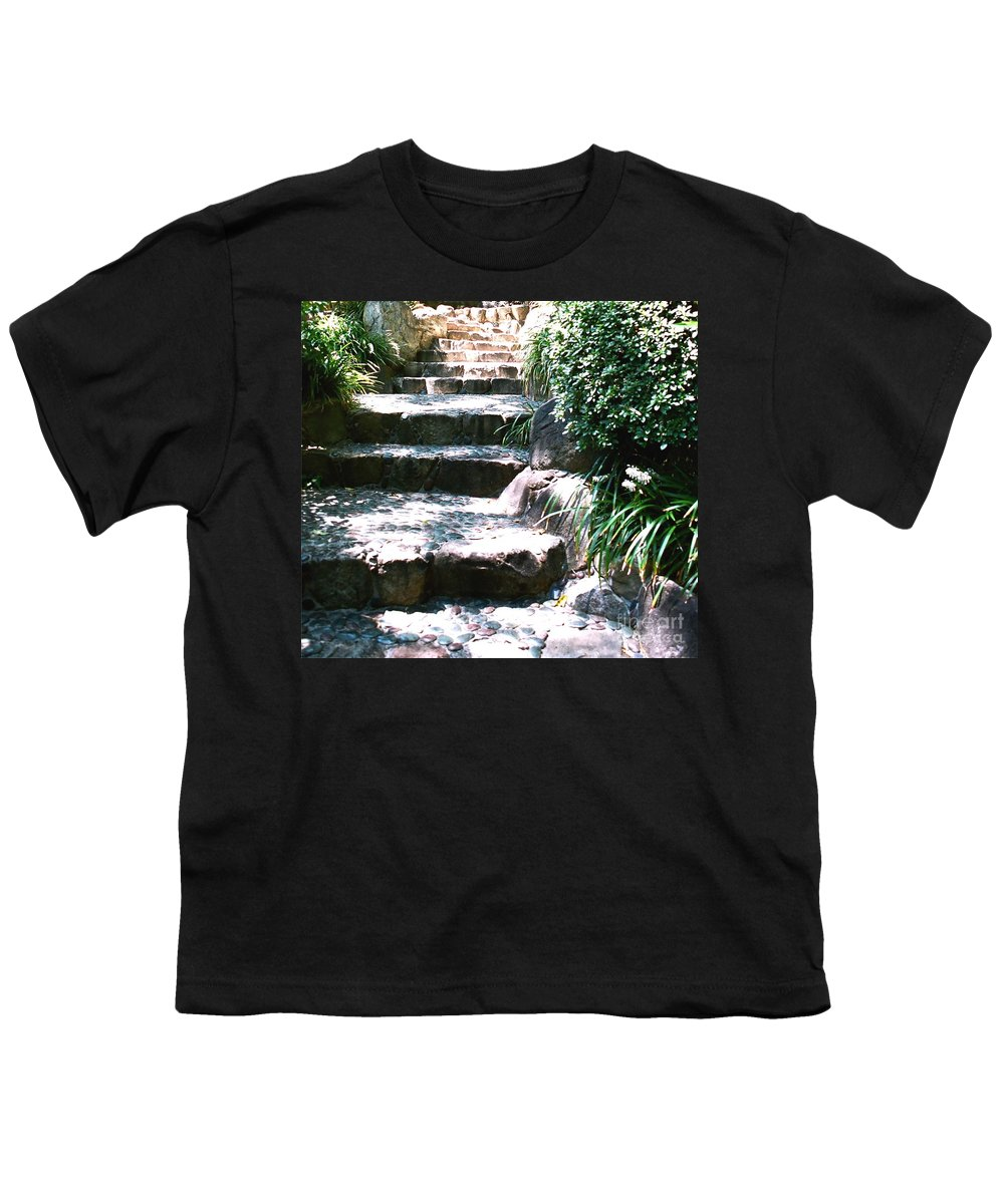 Stairs Youth T-Shirt featuring the photograph A Way Out by Dean Triolo
