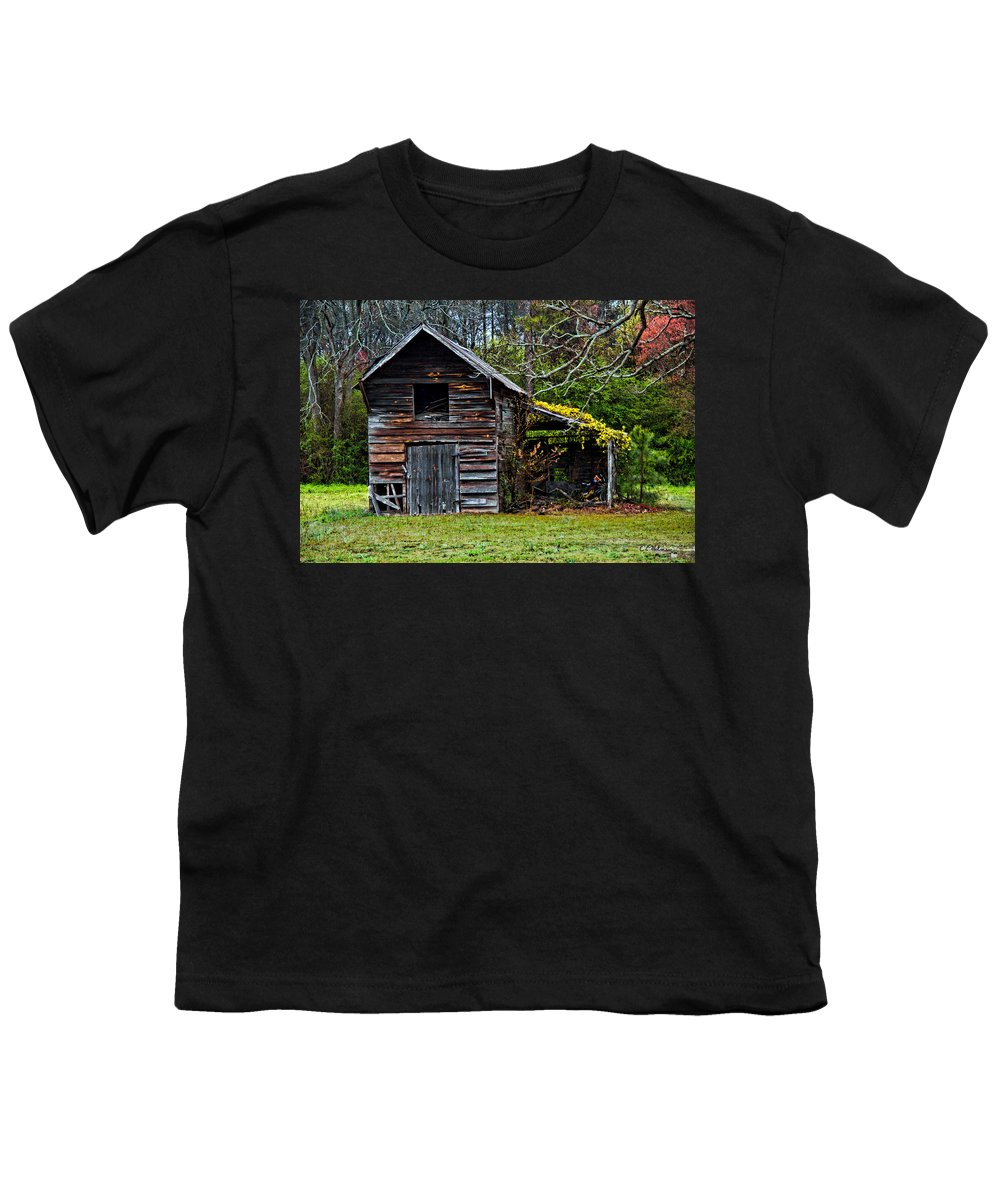 Barn Youth T-Shirt featuring the photograph A Yellow Cover by Christopher Holmes