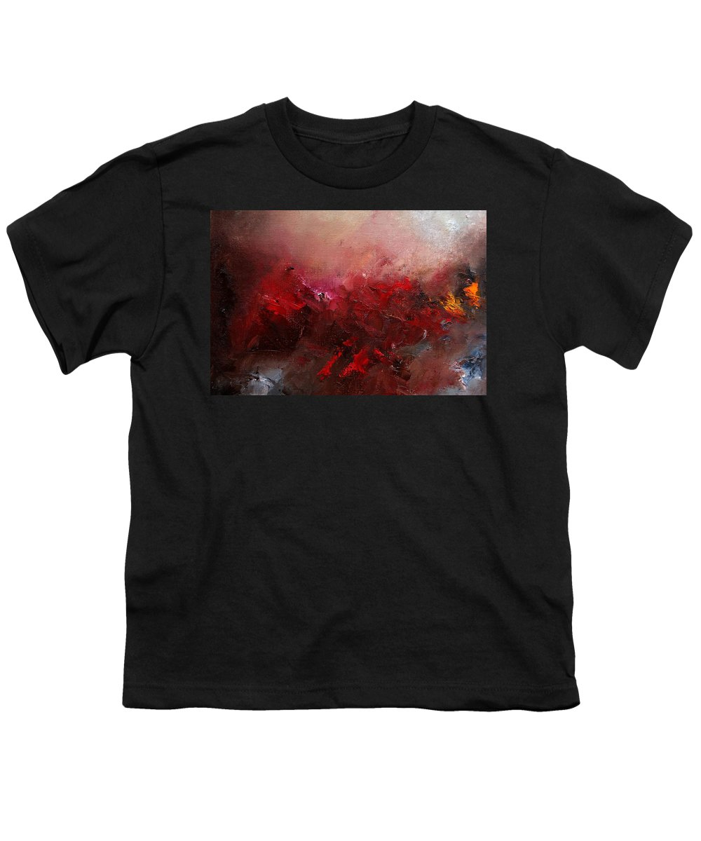 Abstract Youth T-Shirt featuring the painting Abstract 056 by Pol Ledent