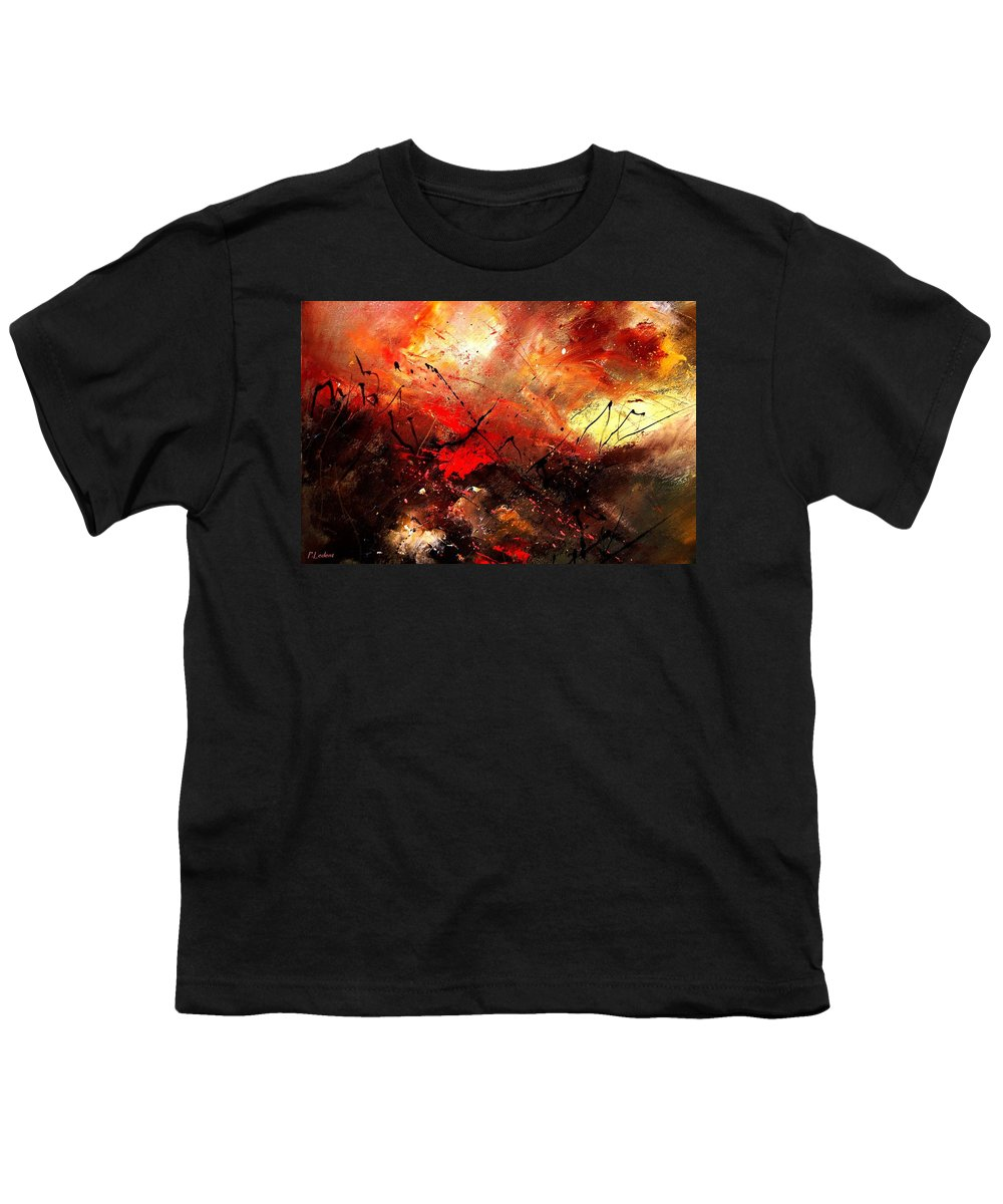 Abstract Youth T-Shirt featuring the painting Abstract 100202 by Pol Ledent