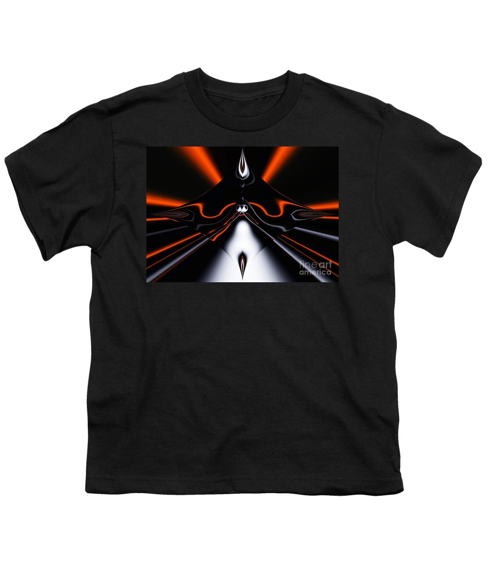 Abstract Youth T-Shirt featuring the digital art Abstract 4-22-09 by David Lane