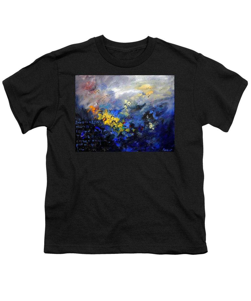 Abstract Youth T-Shirt featuring the painting Abstract 970208 by Pol Ledent