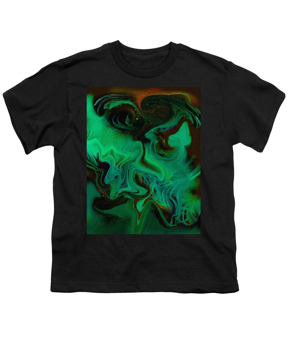 Abstract Design Youth T-Shirt featuring the digital art Digital Picture Abstract Bq166 by Oleg Trifonov