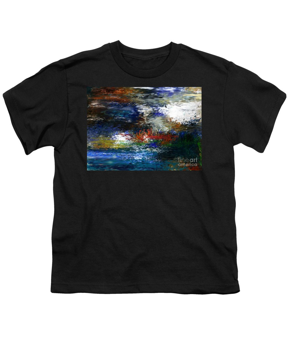 Abstract Youth T-Shirt featuring the digital art Abstract Impression 5-9-09 by David Lane