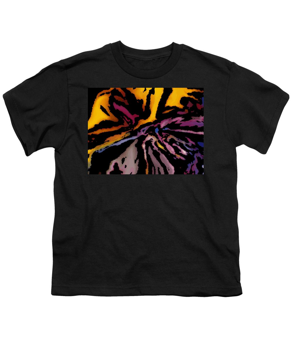 Abstract Youth T-Shirt featuring the digital art Abstract309g by David Lane