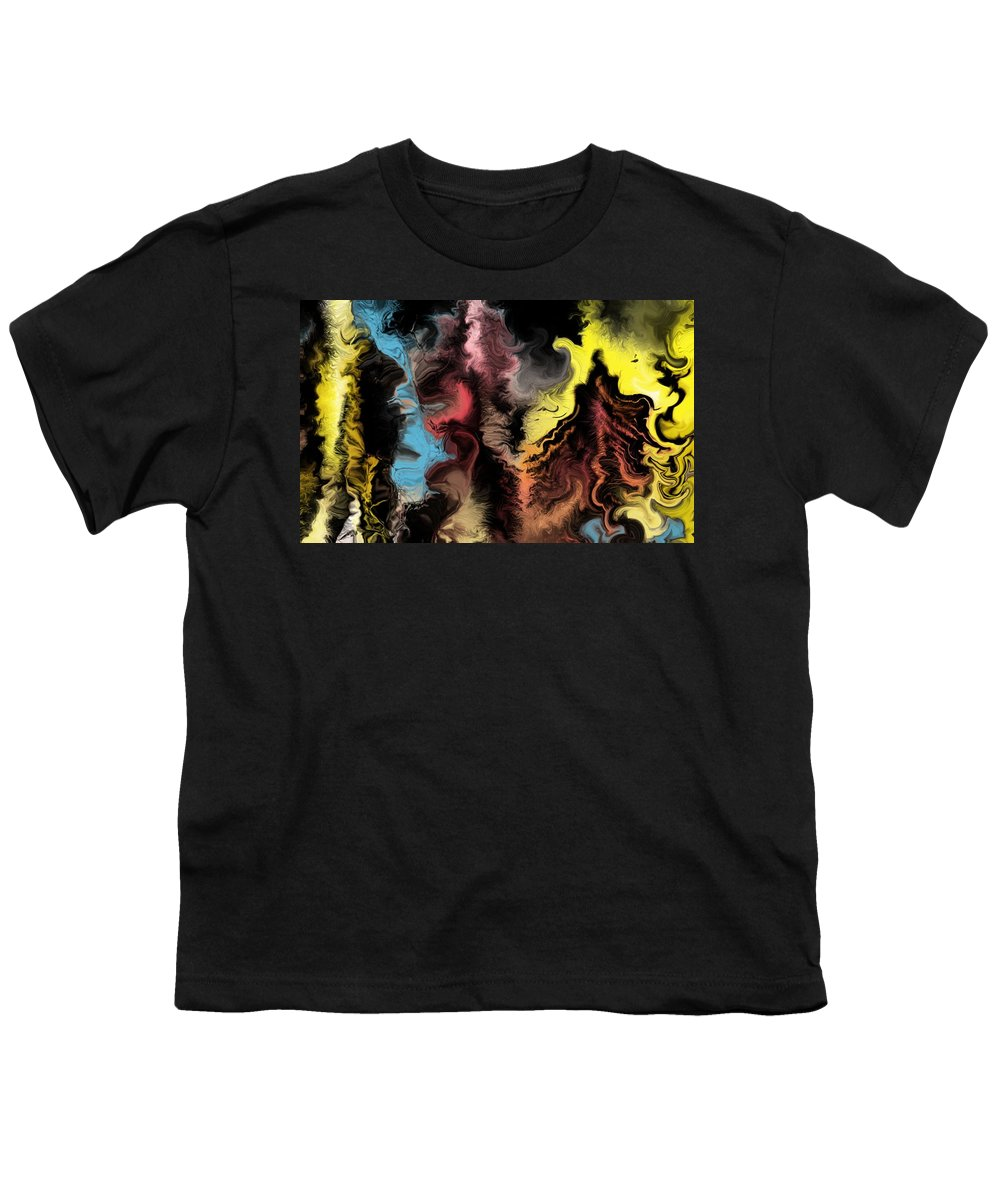 Abstract Youth T-Shirt featuring the digital art Abstract309i by David Lane