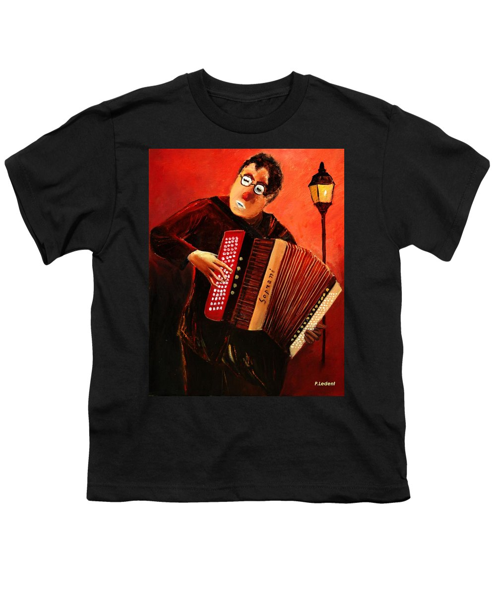 Music Youth T-Shirt featuring the print Accordeon by Pol Ledent