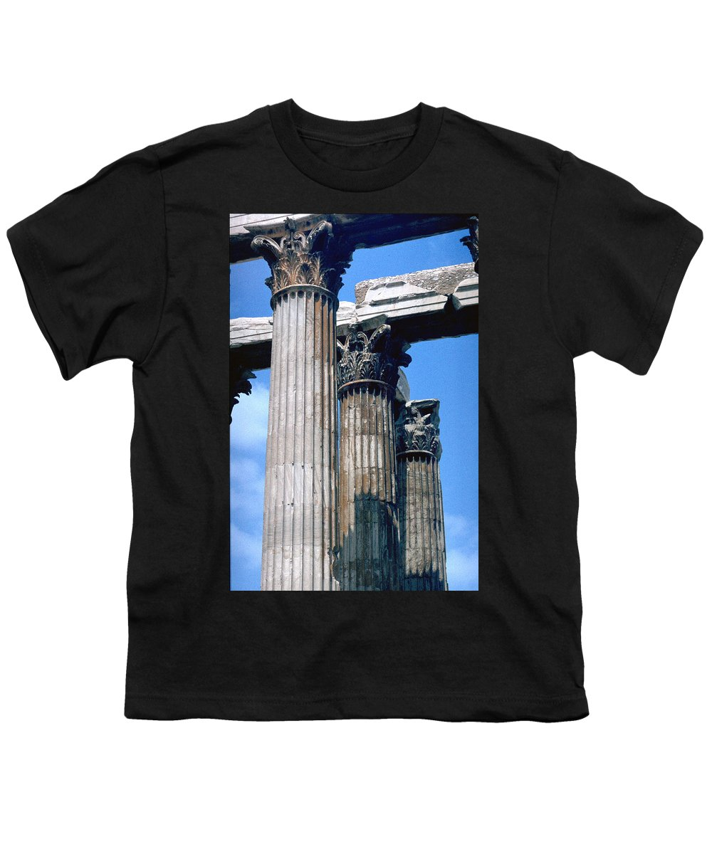 Acropolis Youth T-Shirt featuring the photograph Acropolis by Flavia Westerwelle
