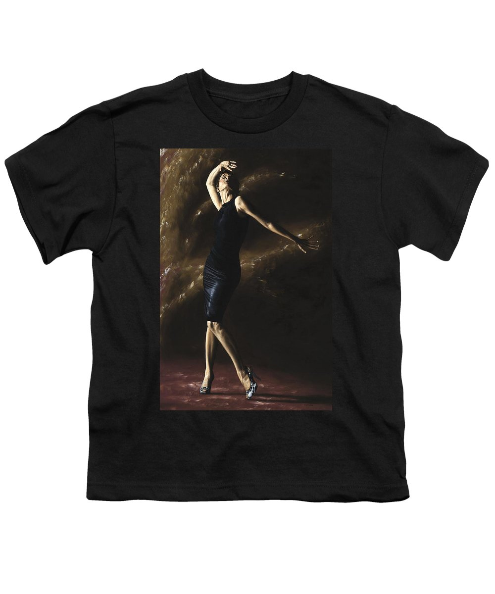 Dance Youth T-Shirt featuring the painting After The Dance by Richard Young