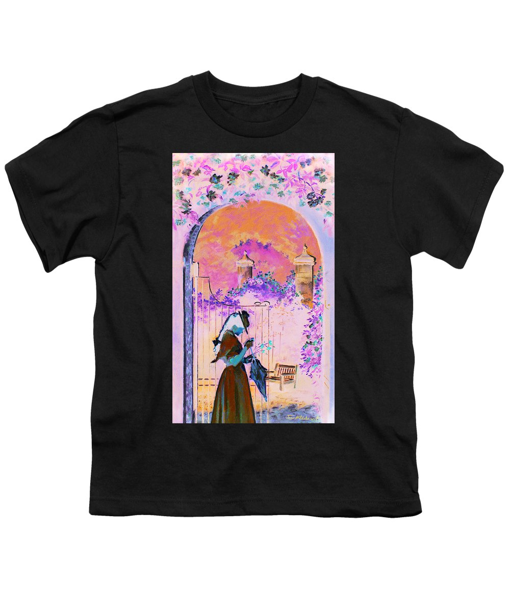 Rose Youth T-Shirt featuring the painting Afternoon Stroll by Jean Hildebrant