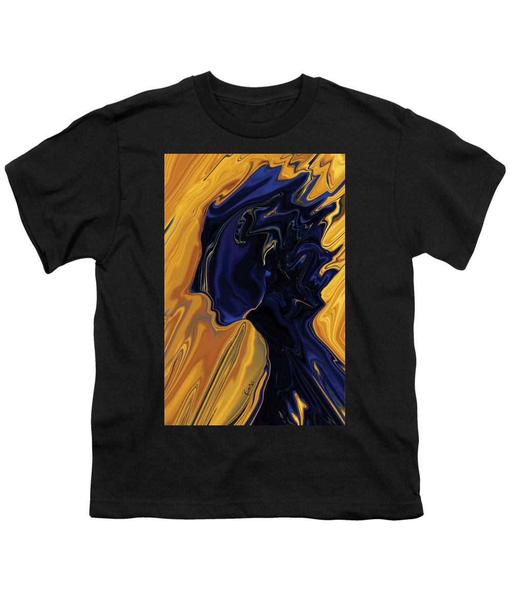 Abstract Youth T-Shirt featuring the digital art Against The Wind by Rabi Khan