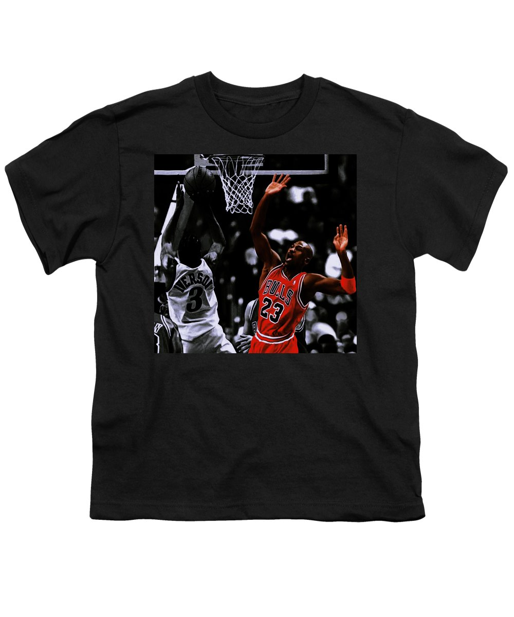 81bcdb4cb276 Air Jordan And Allen Iverson Youth T-Shirt for Sale by Brian Reaves