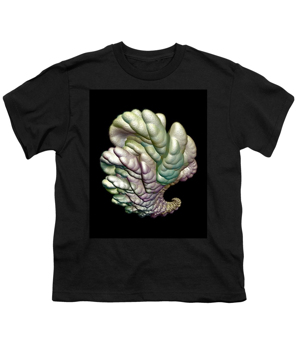 Fractal Youth T-Shirt featuring the digital art Alien Brain by Frederic Durville