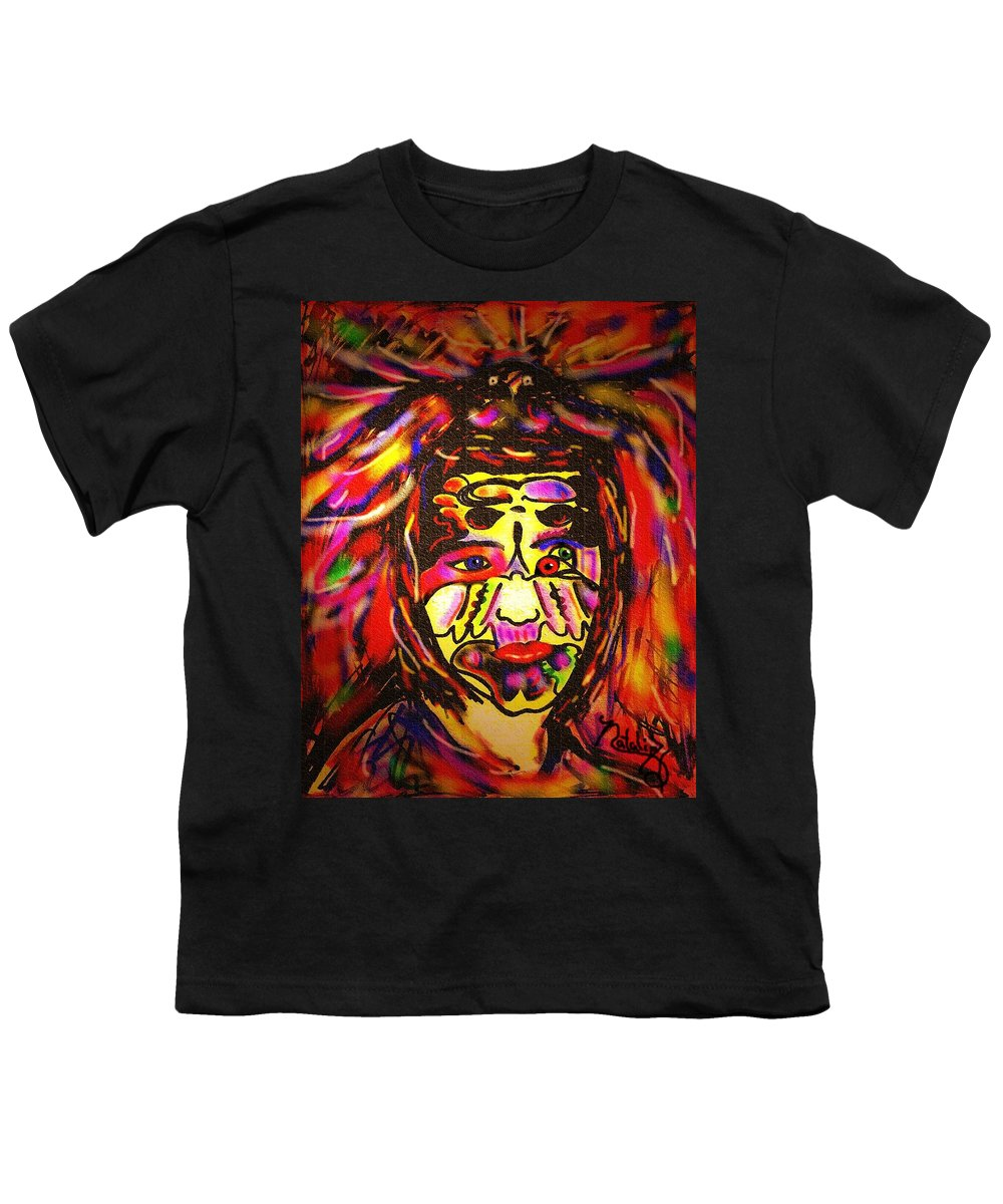 Man Youth T-Shirt featuring the painting All Seeing Eye by Natalie Holland