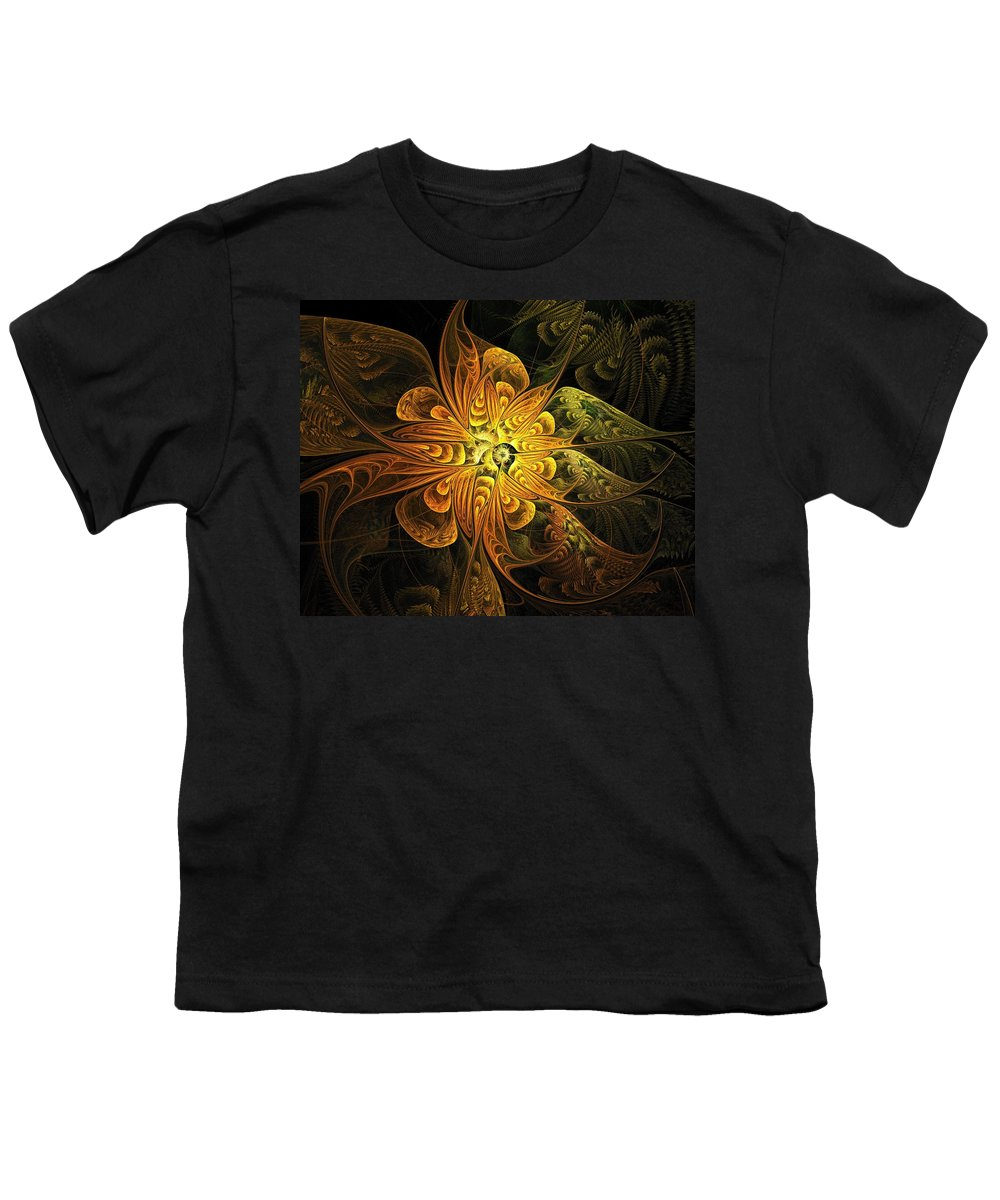 Digital Art Youth T-Shirt featuring the digital art Amber Light by Amanda Moore