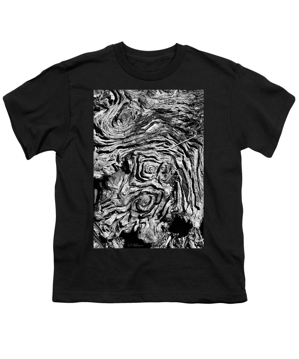 Tree Youth T-Shirt featuring the photograph Ancient Stump by Christopher Holmes