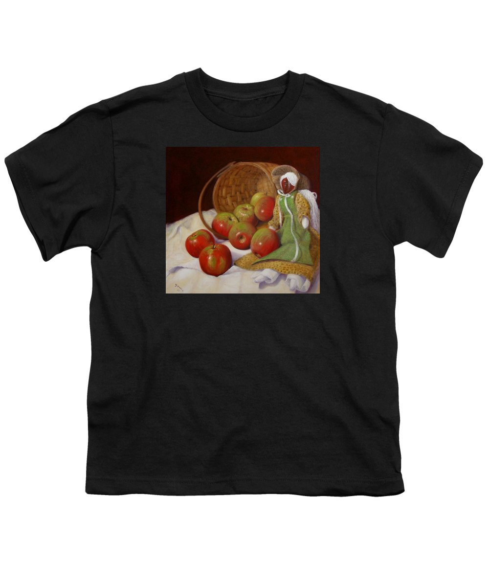 Realism Youth T-Shirt featuring the painting Apple Annie by Donelli DiMaria