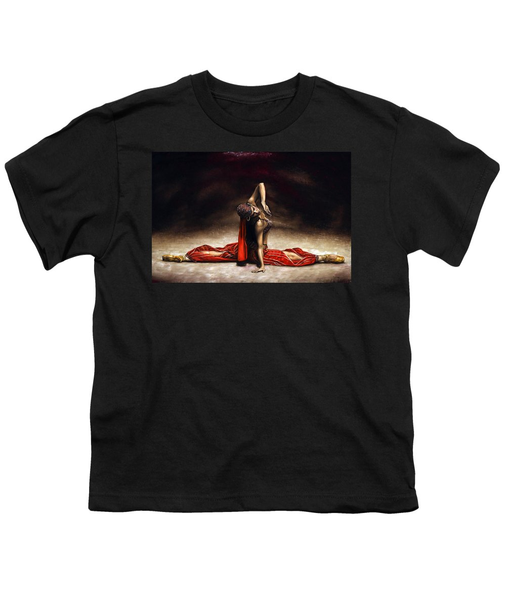 Ballerina Youth T-Shirt featuring the painting Arabian Coffee by Richard Young