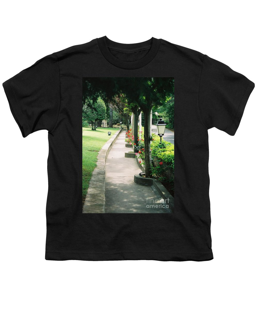Arles Youth T-Shirt featuring the photograph Arles Walkway by Nadine Rippelmeyer