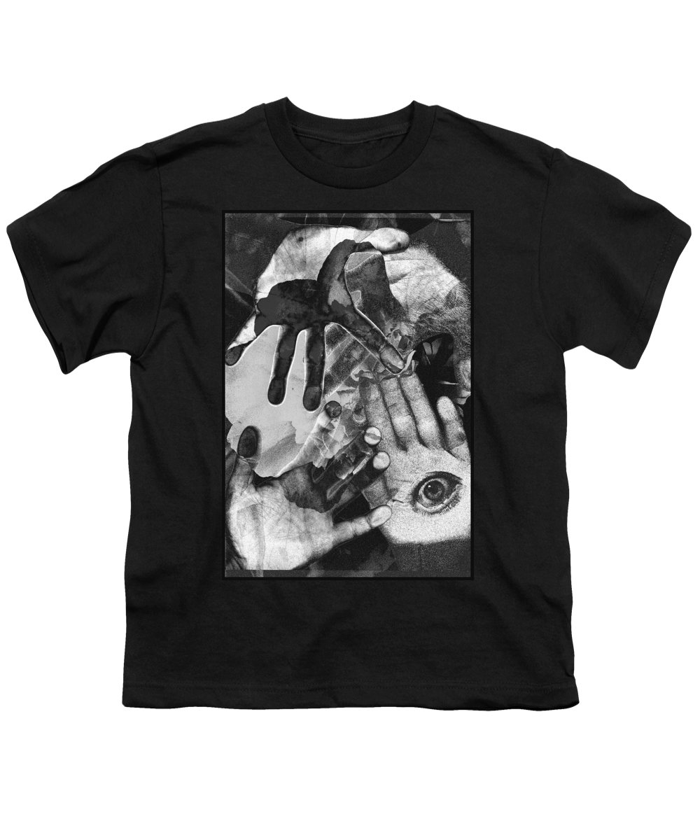 Hands Youth T-Shirt featuring the photograph Artist's Hands by Nancy Mueller