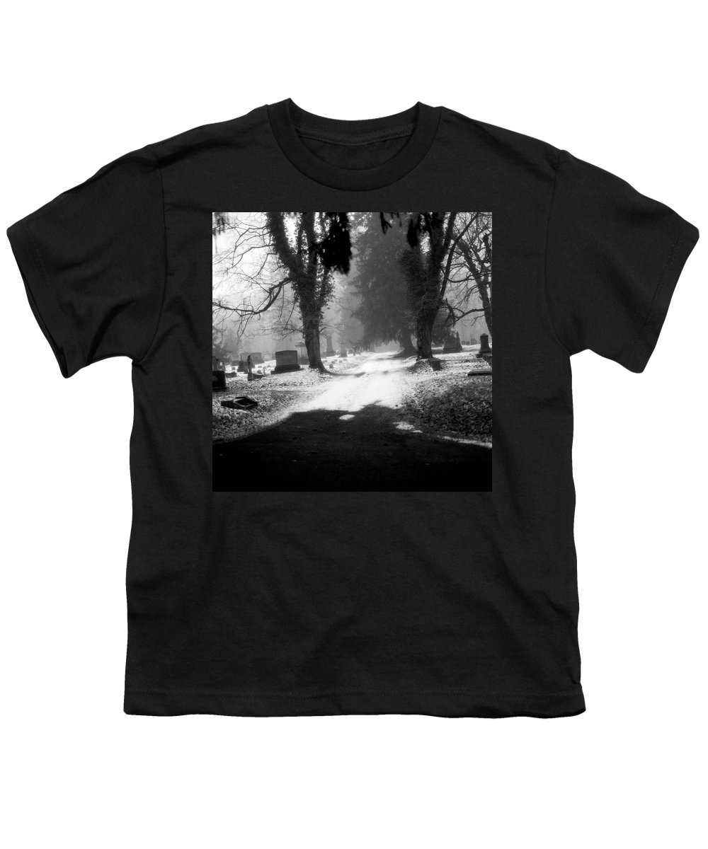 Photograph Youth T-Shirt featuring the photograph Ashland Cemetery by Jean Macaluso