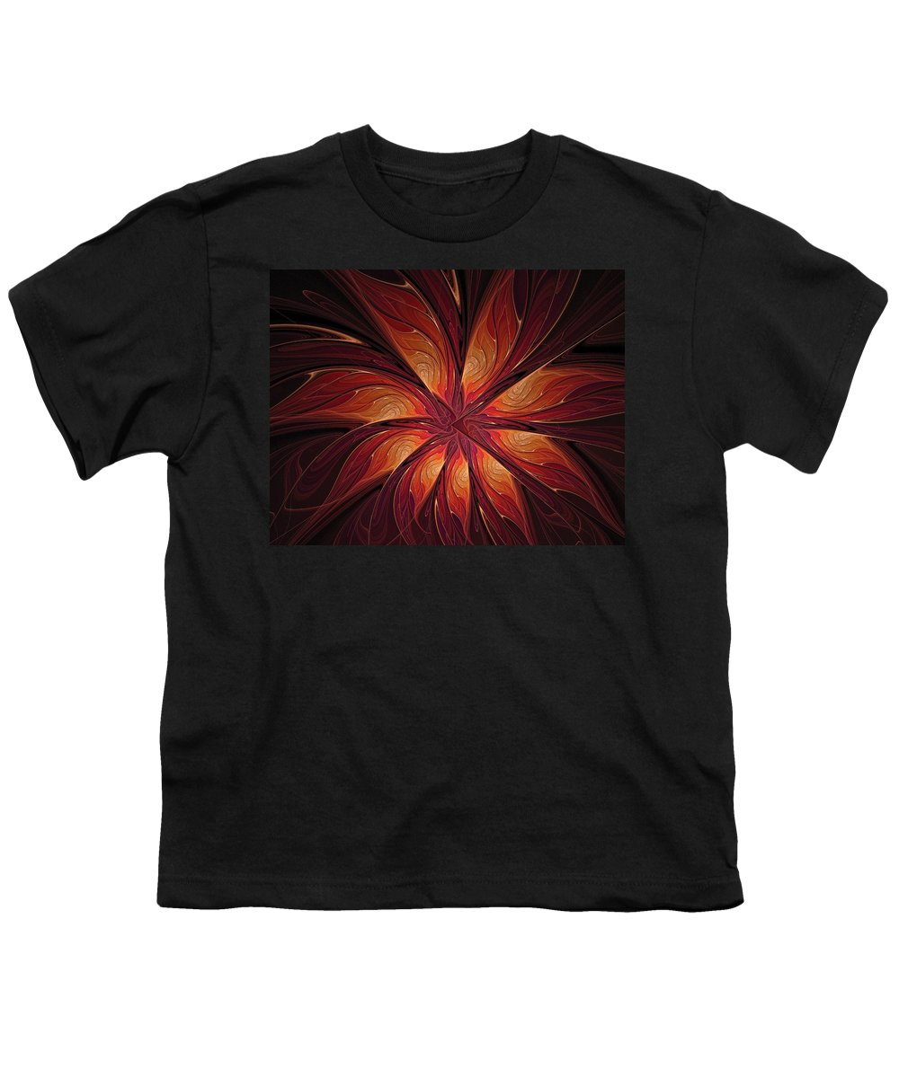 Digital Art Youth T-Shirt featuring the digital art Autumnal Glory by Amanda Moore