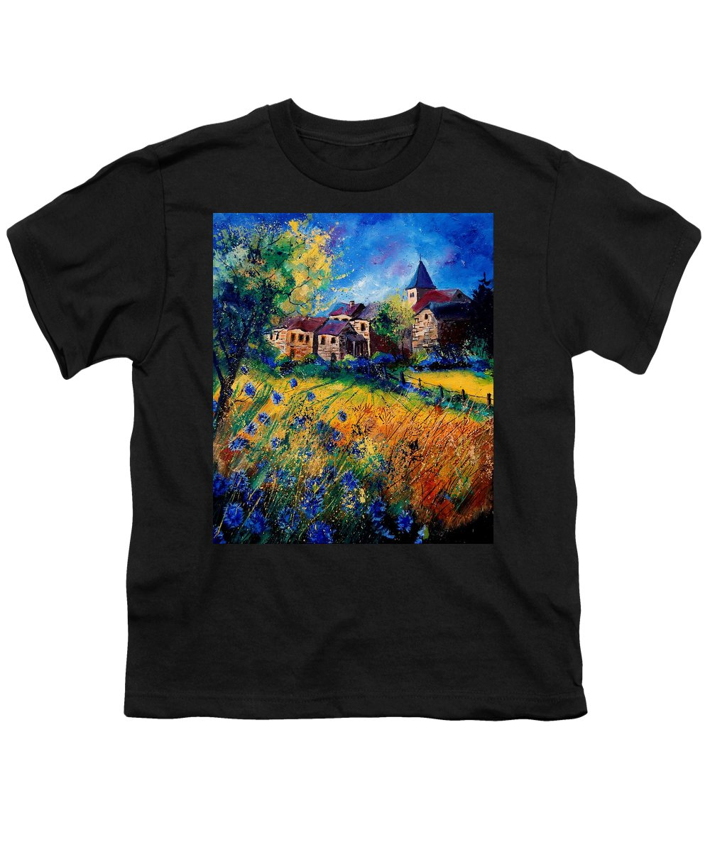 Tree Youth T-Shirt featuring the painting Awagne 67 by Pol Ledent