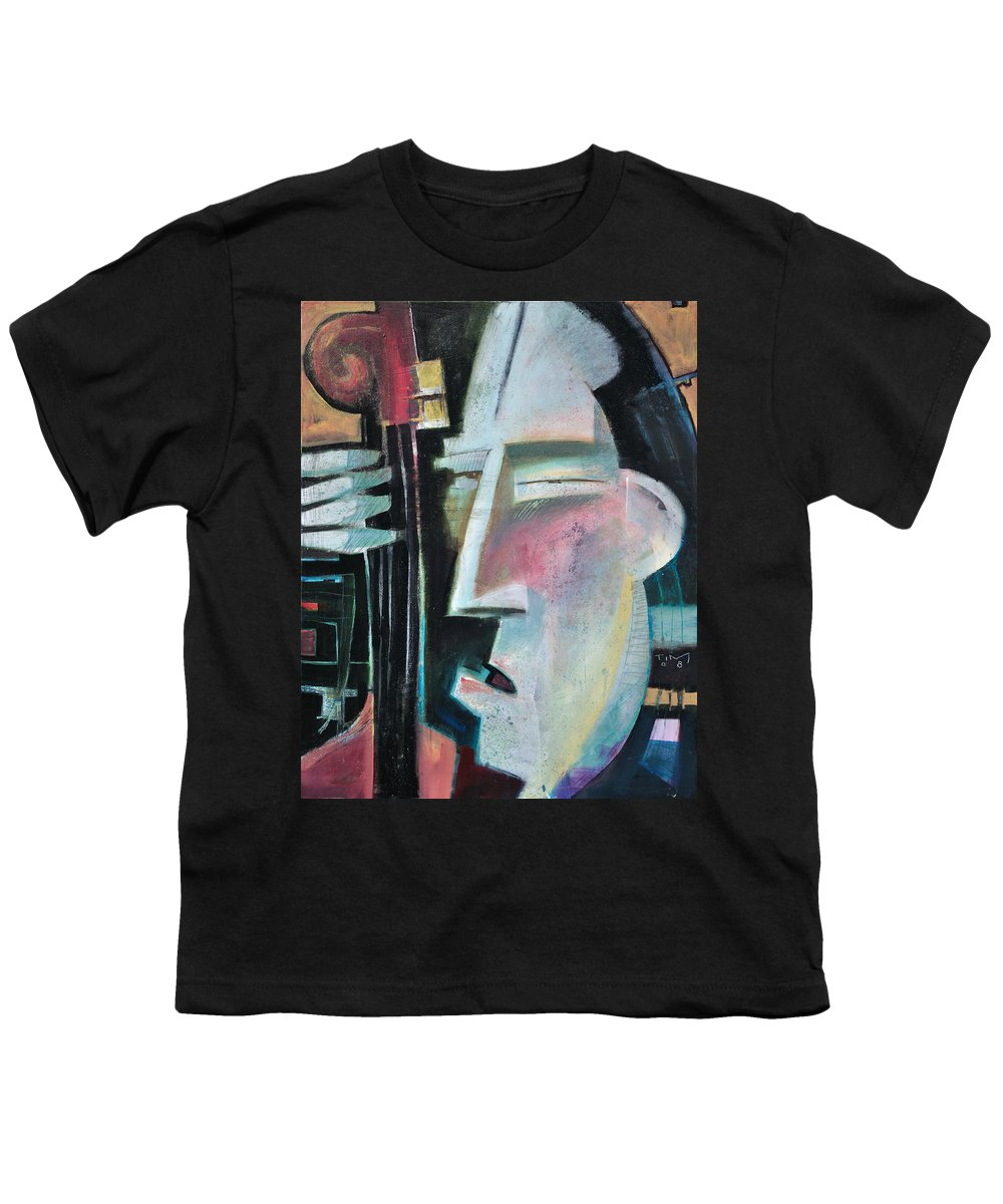 Jazz Youth T-Shirt featuring the painting Bass Face by Tim Nyberg