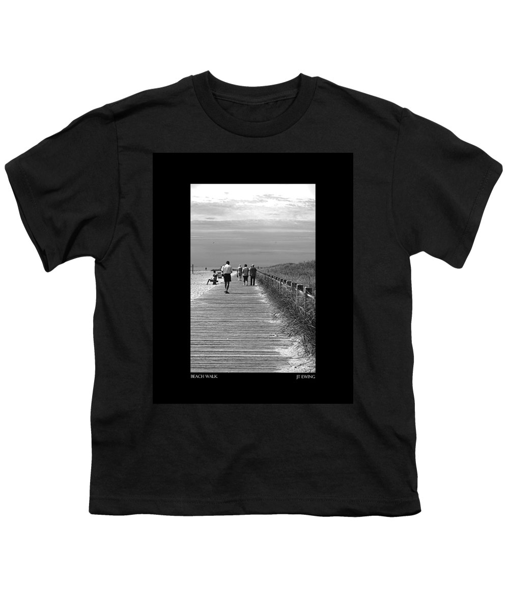 Boardwalk Youth T-Shirt featuring the photograph Beach Walk by J Todd